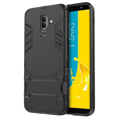 Slim Armour Tough Shockproof Case for Samsung Galaxy J8 - Black